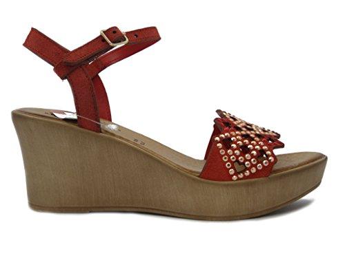 OSVALDO PERICOLI - Sandalias de vestir para mujer Rojo - rojo