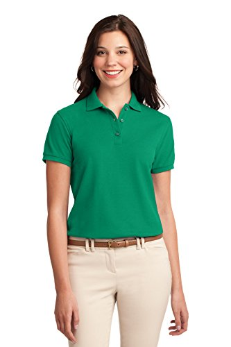 Port Authority Women's Silk Touch Polo M Kelly Green from Port Authority