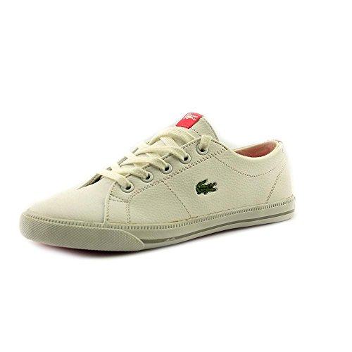Lacoste Marcel DE SPC Youth Girls Size 2 White Textile Sneakers Shoes