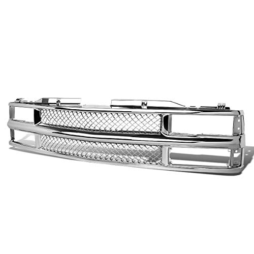 For Chevy C10 C/K-Series Chrome Meshed ABS Plastic Front Bumper Grille