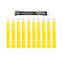 Cyalume ChemLight Military Grade Chemical Light Sticks, Yellow, 6-Inch Long, 12 Hour Duration (Pack of 10)