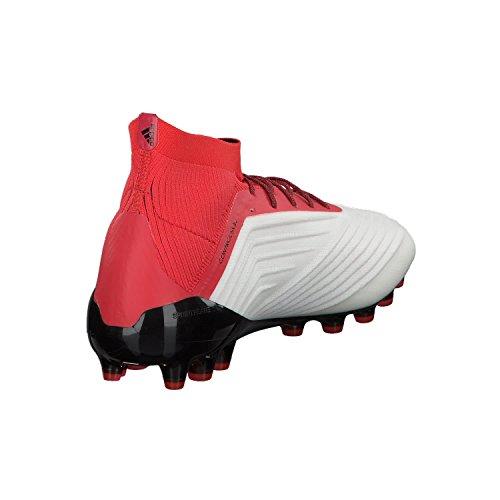 Adidas Mannen Roofdier 18,1 Ag Voetbalschoenen Wit (schoenen Wit / Zwarte Kern / Real Koraal)