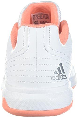 adidas Performance Damen Aspire Tennisschuh Weiß / Kreide Koralle / Metallic Silber