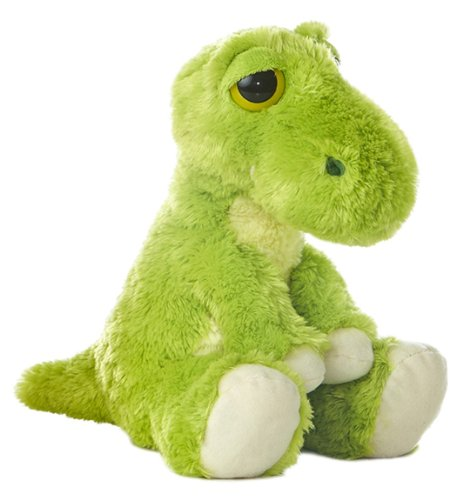 T Green T-Rex Dinosaur Dreamy Eyes 10-Inch Stuffed Animal Aurora World Inc 21250