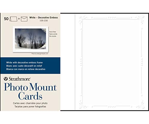 Strathmore (105-230 Photo Mount Cards Decorative Embossed Border,
