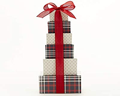 Wine Country Gift Baskets Tower of Chocolate and Sweets. The Ideal Christmas Gift For Friends, Family, Co-Workers and Clients. Great For Birthdays or as a Corporate Gift.