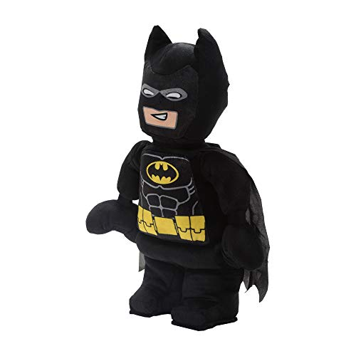 "LEGO Batman Character Shaped Soft Plush Cuddle Pillow 19"" x 10"" x 3"" Black"
