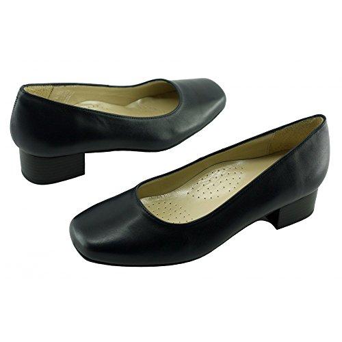 Zapatos anchos de Tacón Azul Azafatas Bora-Bora C-Azul Marino
