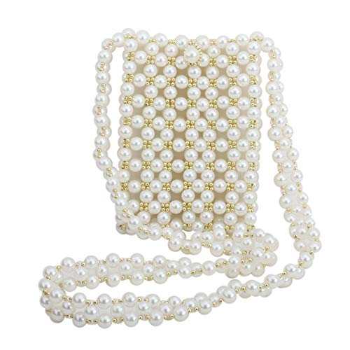 luxury handbags women bags designer purses pearl bag beaded crystal shoulder & crossbody bag wedding party clutch evening bag