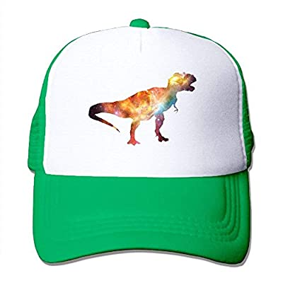 Dinosaur Galaxy Adjustable Snapback Baseball Cap Custom Mesh Trucker Hat from cxms