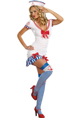 Dreamgirl Women's Sailor Pinup Costume Multi Small