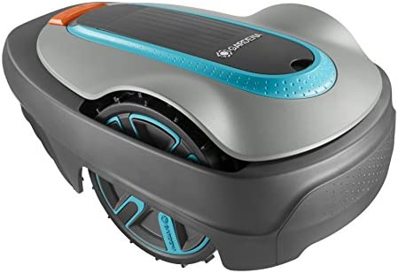 Gardena 15005-47 SILENO City 300 Robot Tondeuse, Gris foncé/Gris Clair/Turquoise/Orange - Home Robots