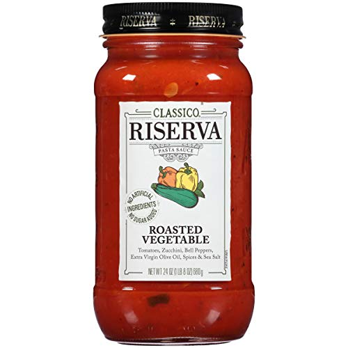 (Classico Riserva Roasted Vegetable Pasta Sauce, 24 oz Bottle)