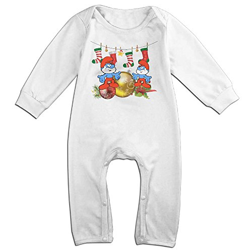 [VanillaBubble The Smurfs And Christmas For 6-24 Months Toddler New Design T-shirt White Size 6 M] (Dwayne Johnson Baby Costume)