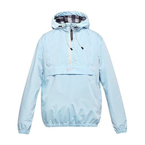 - Rokka&Rolla Women's Water-Resistant Quick Dry Hooded Windbreaker Pullover Anorak Cycling Running Athletic Jacket Baby Blue