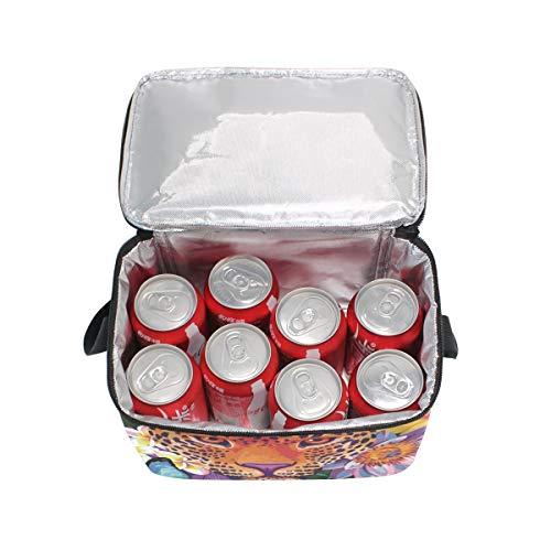 Tiger Strap Tropical Shoulder Bag Cooler Floral Lunch Animals for Lunchbox Flowers Picnic 1qEZ5v