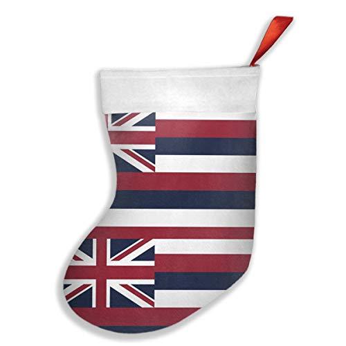 KSOJFH Hawaii State Flag Christmas Holiday Stocking Plush Cuff