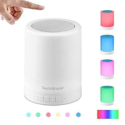Table Lamp Bluetooth Speaker Touch Sensor Bedside Lamp, Portable Multifunctional Speaker + Dimmable Warm White Changing Color RGB, Muisc Player / Hands-free Speakerphone, TF card / AUX Supported,.