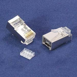 GOWOS RJ45 Cat.6 Shielded Plug Stranded 50 Micron w//Inserter 100pk