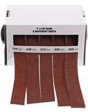 ULTECHNOVO Slipande sliprullar boxad smärgelduk rulle polering sandpapper slipverktyg metallarbete snickeri sandpapper diverse paket med dispenser