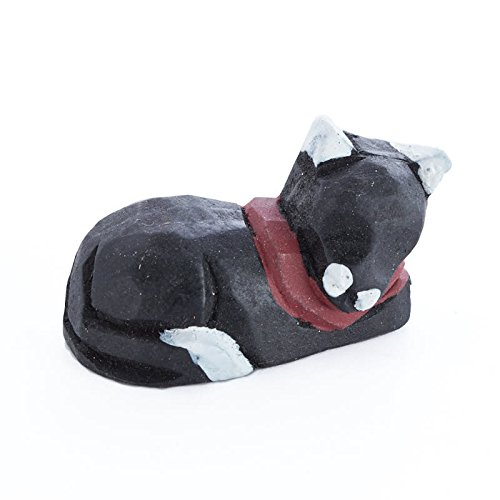 Factory Direct Craft Miniature Hand Carved Cat | 12 Pieces