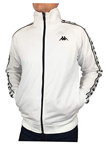 Kappa Mens 222 Banda Anniston Track Top White/Black S