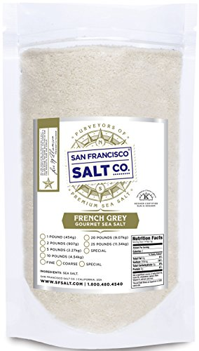 French Grey Sea Salt, pure & natural sea salt from France (2lb Bag Fine Grain)