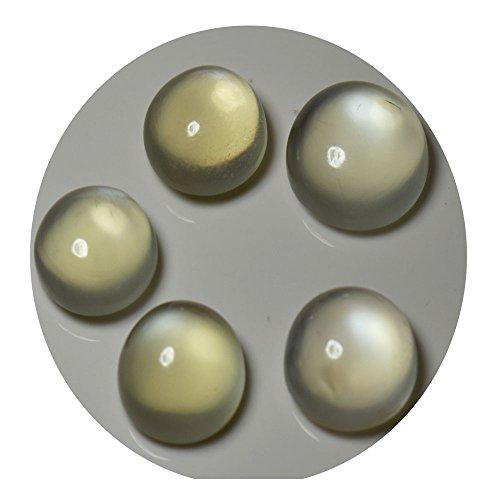 Natural Transparent Moonstone 32.6 Carat Loose Gemstone Lot 5 Pieces Round Shape Chakra healing Beads A+ from gemsyogi