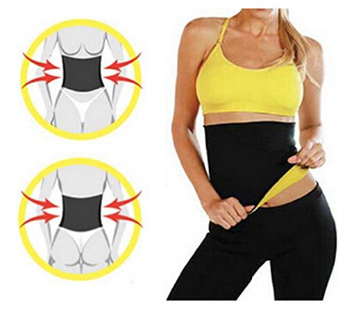 cdad9c10aa1a8 JERN Unisex Hot Slimming Shaper Belt (Black