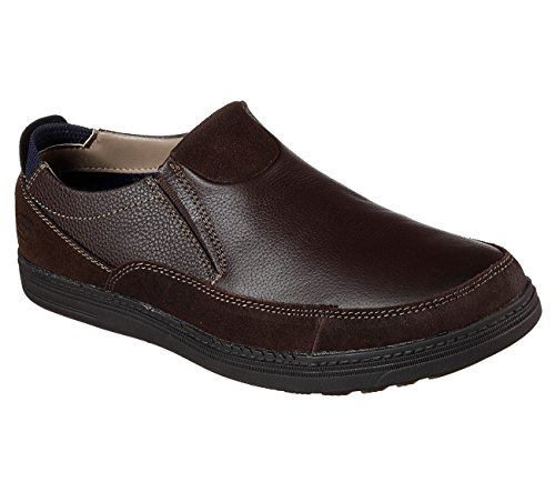 Skechers Droven Malten Mens Slip On Mocassini Chocolate 9