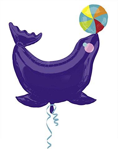 Anagram International 2878601 Circus Seal Shape Balloon Pack, 32