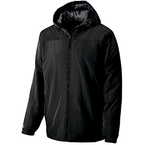 Holloway Youth Bionic Hooded Jacket (Small, Black/Carbon) by Holloway