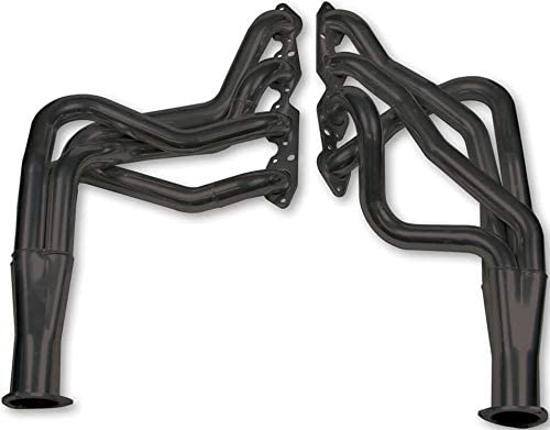 NEW HOOKER SUPER COMPETITION LONG TUBE HEADERS,PAINTED BLACK 3 COLLECTORS,1.875 TUBE DIAMETER,COMPATIBLE WITH 1975-1986 CHEVR