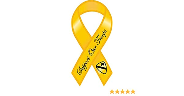 1st Cav Support Our Troops Yellow Ribbon Magnet