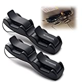 Double Sunglasses-Glasses Holder for Sun Visor / Air Vent -- Conveniently Holds 2 Pairs of Sunglasses -- By Superior Essentials (2 Pack)