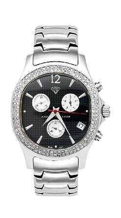 NEU. Aqua Master Herren Armbanduhr Oval Diamant - 1.50 ctw