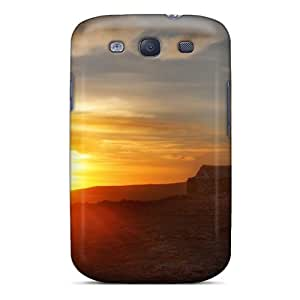 High Impact Dirt/shock Proof Case Cover For Galaxy S3 (sunset On Ruins In The Desert)
