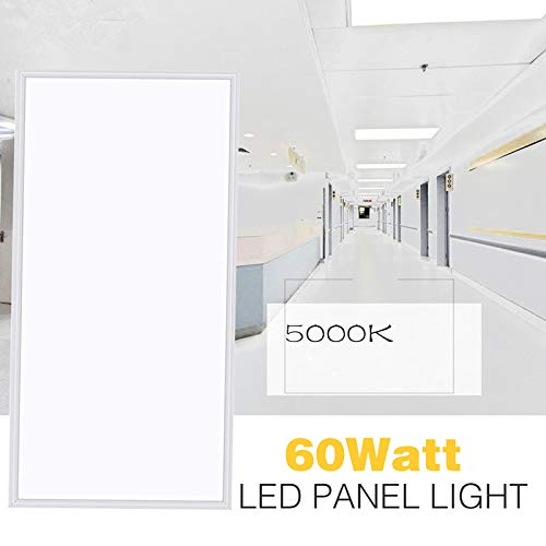 LED Panel Light,2x4 FT,2 Pack,0-10V Dimmable,ETL Listed,60W with 7800 Lumens 5000K Daylight White Color, Drop Ceiling Flat LED Light Panel,Recessed Edge-Lit Troffer Fixture by WYZM (Image #2)