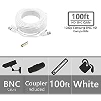 (Set of 8) STS-FHDC100 - 100ft Premium 1080p HD BNC Video Cable. Samsung Compatible with Systems SDH-C75100, SDH-C75080, SDH-B73040, SDH-B73045,SDH-B74041, SDH-B74081