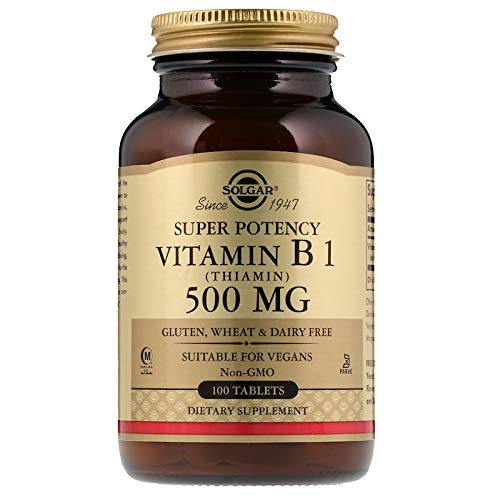 Solgar - Vitamin B1 (Thiamin) 500 mg, 100 Tablets