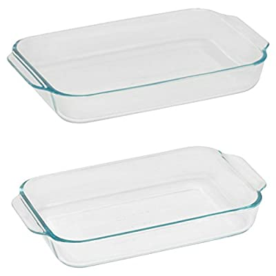 Pyrex 2 Piece Oblong Bakeware Value Pack,