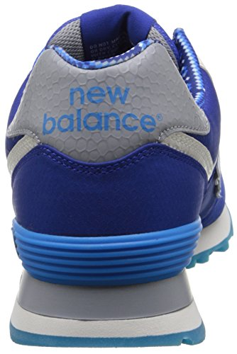 Blue Mens Balance White Textile Classics New Traditionnels Trainers BYAp6