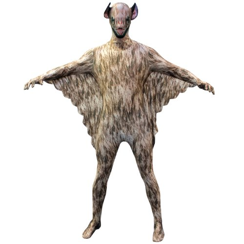 Morphsuits Vampire Bat Kids Animal Planet Costume - Size Large 4'-4'6 (120cm-137cm) -