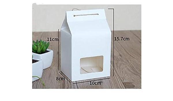 XLPD - Caja de Papel Kraft con Caja de Regalo para Ventana, Papel Kraft, Caja de Regalo para Fiesta, Cajas de Embalaje de Alimentos de tamaño Grande: Amazon.es: Hogar