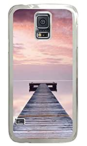 Romantic Seaside 2 PC Transparent Hard Case Cover Skin For Samsung Galaxy S5 I9600