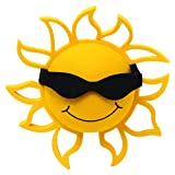 Coolballs Cool California Sunshine Car Antenna Topper Mirror Dangler Desktop Spring Stand Auto Accessory (Black)
