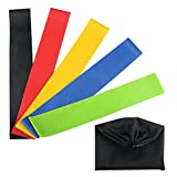 Vanzon - Exercise Resistance Loop Bands - (set of 5)- Extra Wide Resistance Bands Designed for Comfort - Best for Yoga,Strength Training and Home Fitness & Handy Carry Bag