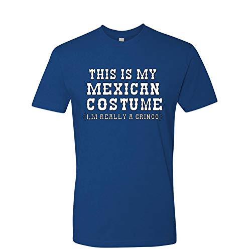 (This is My Mexican Costume Cinco De Mayo Mens Premium Graphic T-Shirt, Royal, Small )