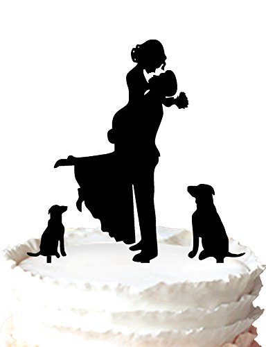 Buythrow Unique Wedding Topper Silhouette product image