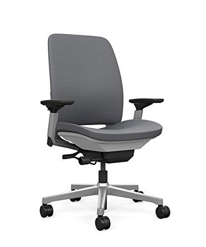 Gentil Steelcase Amia Task Chair: Platinum Frame/Base   4 Way Adjustable Arms    Standard